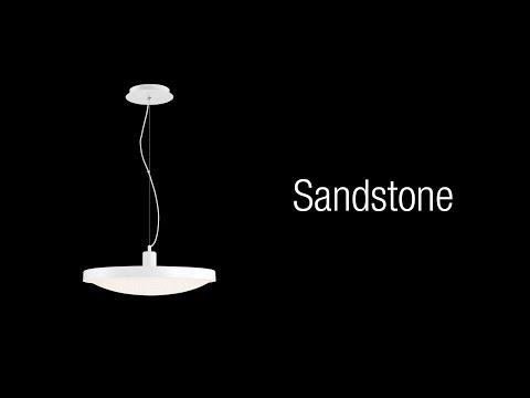 Video for Sandstone White One-Light 14-Inch LED Pendant