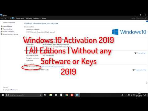 How to ACTIVATE WINDOWS 10 PERMANENTLY 2019 (All versions)