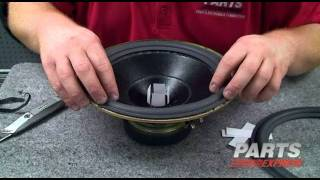 HOW TO: DIY speaker refoam using a Parts Express repair kit