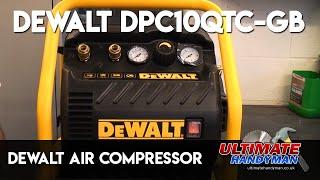 Ultimate Handyman is back with the DEWALT DPC10QTC 10 Litre Low Noise Compressor