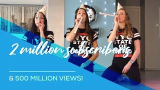 2 million subscribers & 500 million views for Saskia