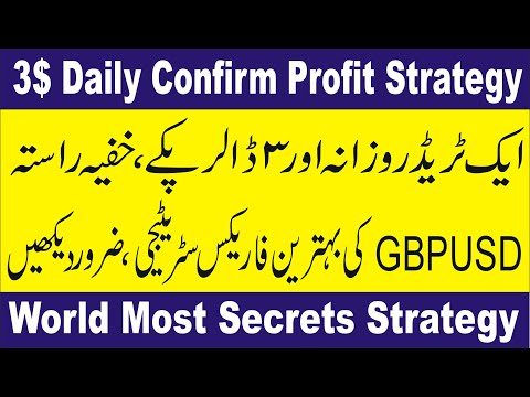 3$ Daily Confirm Profit, Best Forex GBPUSD trading secret strategy by Tani in Urdu and Hindi