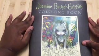 Jasmine Becket-Griffith Strangeling Adult Coloring Book Review And Flip Through