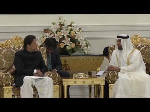العرب اليوم - شاهد: رئيس وزراء باكستان يلتقي ولي عهد أبو ظبي