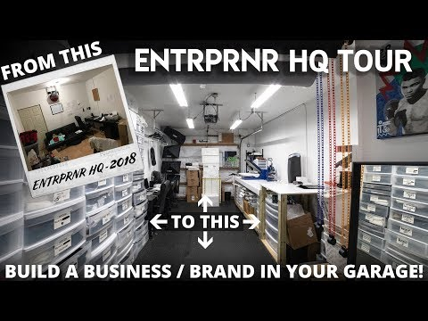 , title : 'How to Start a DIY Clothing Brand in Your Garage - ENTRPRNR HQ Tour