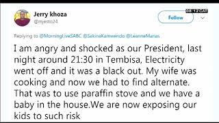Tweets On Eskom Stage 4 Loadshedding