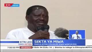 Raila Odinga apendekeza kubinafshisha viwanda vya miwa