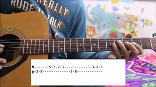 Zara Tasveer Se tu / Meri Mehbooba - Guitar tabs / leads lessons simple cover easy