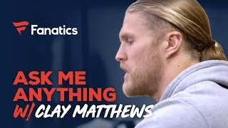Ask Clay Matthews Anything: Trash Talking Strategy And Hair Tips | #FanaticsAMASeries