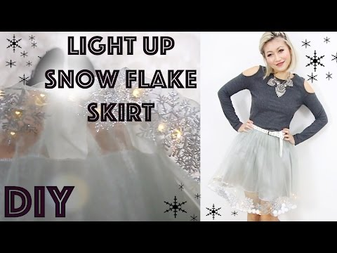 DIY: Light Up Snow Flake Holiday Skirt