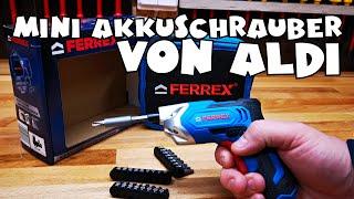 Aldi - FERREX® 3,6 V Li-Ion Akkuschrauber - Vorstellung