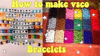 How To Make Vsco Bracelets  // Diy Pony Bead Bracelet