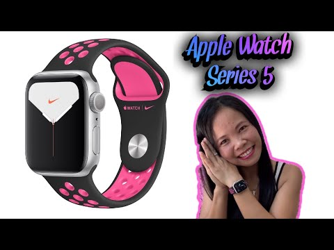 Apple Watch series 5 unboxing and setting up.