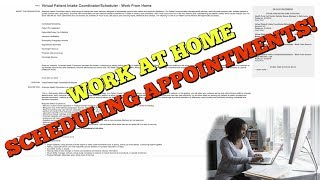 WORK AT HOME SCHEDULING DOCTORS APPOINTMENTS