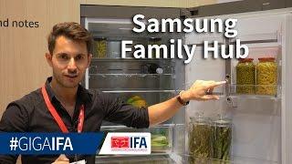 Samsung Family Hub: Smarter Kühlschrank vorgestellt - IFA 2016 - GIGA.DE