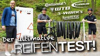 10 Stunden Reifentest! Slick vs. Stolle, WTB, Conti, Schwalbe, S-Works, Rene Herse, 25mm-44mm