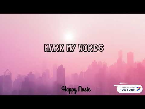 Mark my words ~ Justin Bieber (karaoke + lyrics)