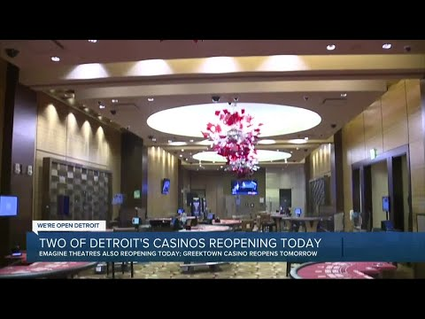 Two of Detroit's casinos reopening Wednesday