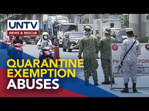 [UNTV]  JTF COVID Shield, binalaan ang mga APOR na gumagamit ng exemption para sa non-essential travels