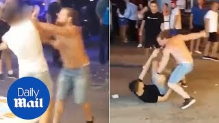 'MMA fighter' loses temper and battles two revellers at once