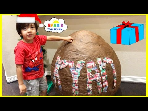 Cars Toys Giant Egg Surprise Opening! Christmas Morning 2016 Opening Present Toy Cars for Kids Video