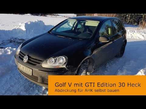 Golf 5 - AHK-Abdeckung für GTI Edition 30 Heckschürze bauen