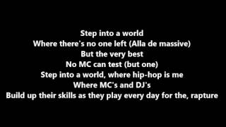 KRS One - Step Into A World (lyrics)