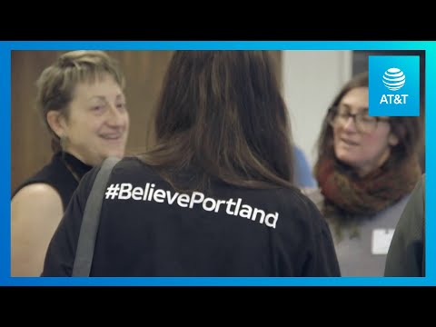 AT&T Believes is Bridging Portland's Technology Gap-youtubevideotext