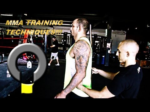 MMA Training Techniques- Basic athletic training with UFC fighter ...
