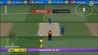 EA CRICKET 18 PC Gameplay - India Vs Australia - 5 Overs Match Part 1