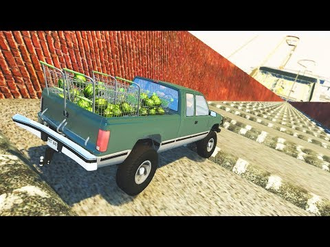 BeamNG Drive LAST DOWNHILL SpeedBumps Crashes