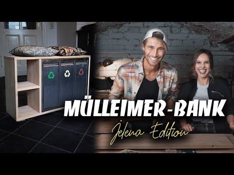 DIY MÜLLEIMER selber bauen MIT JELENA - super Sitzgelegenheit in der Küche | EASY  ALEX