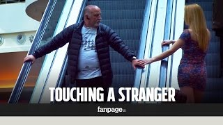 What happens when you touch a stranger on the escalator?