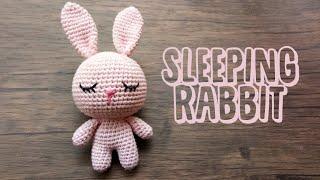 CUTE AMIGURUMI | SLEEPING RABBIT | FREE PATTERN TUTORIAL