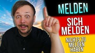 melden, sich melden, nichts zu melden haben | German (A1.1) Word of the Day | Get Germanized | #29