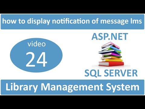 how to display notification of message in asp.net lms