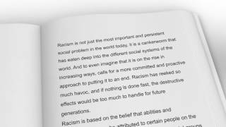 Racism: The Absence of Good Book Promo