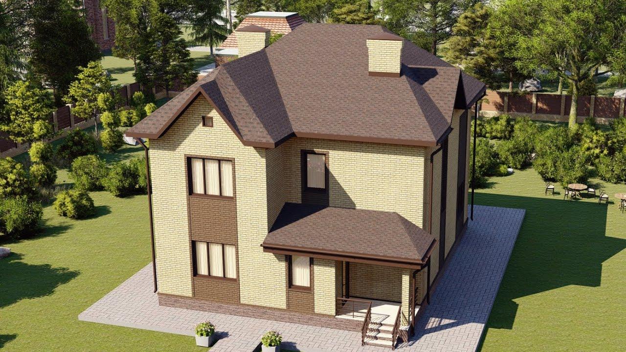 Красивый загородный дом из блока 163 м2