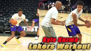 Los Angeles Lakers Workout with Kyle Kuzma 1 on 1