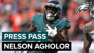 WR Nelson Agholor Discusses Wide Receiver Depth, Carson Wentz & More | Eagles Press Pass