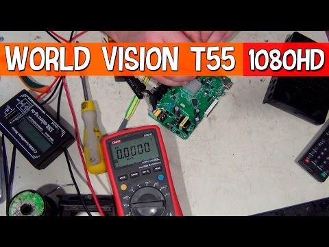 Ремонтируем приемник T2 World Vision, не включается.