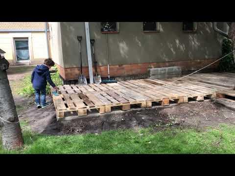 Projekt: Terrasse aus Europaletten - Teil 02 - Bauphase
