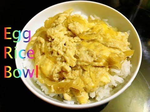 Egg Rice Bowl Recipe : ข้าวหน้าไข่