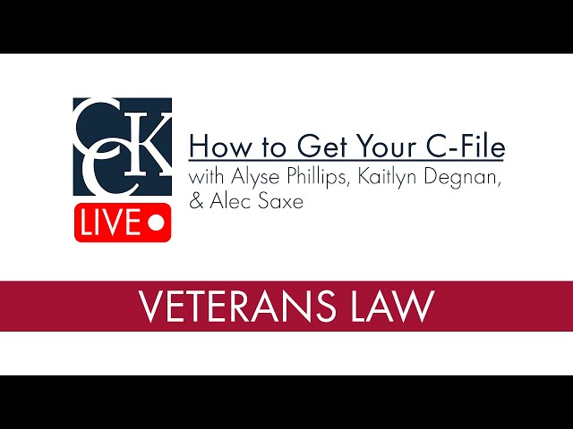 Your VA C-File and How to Get It