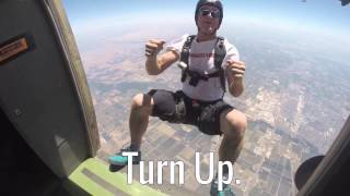 Sky diving: Ten flips on the way down. How do you Turn Up!? #FlexPower #PainRelief