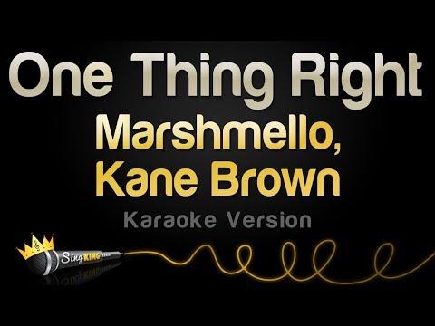 Marshmello & Kane Brown - One Thing Right (Karaoke Version)