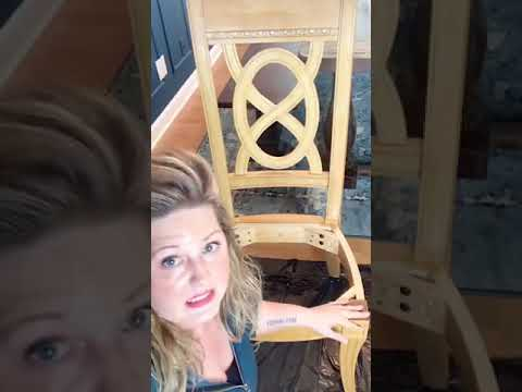 How To Paint Chairs Using ALL-IN-ONE Paint! Cover Chair Bottoms with a Dropcloth DIY Chair