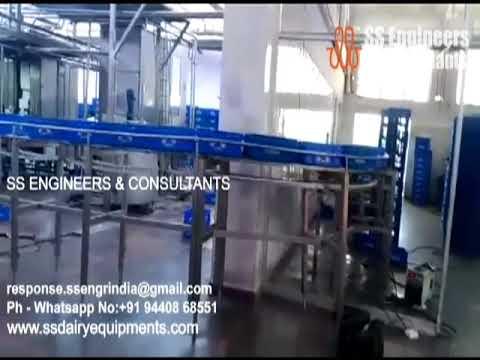 Stainless Steel Crate Conveyor