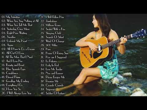 Top 50 Guitar Love Songs Instrumental  Soft Relaxing Romantic Guitar Music