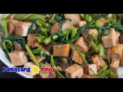 Tokwa and Kangkong with Oyster Sauce | Tofu Oyster Sauce Stir Fry | Tokwa Recipe Panlasang Pinoy